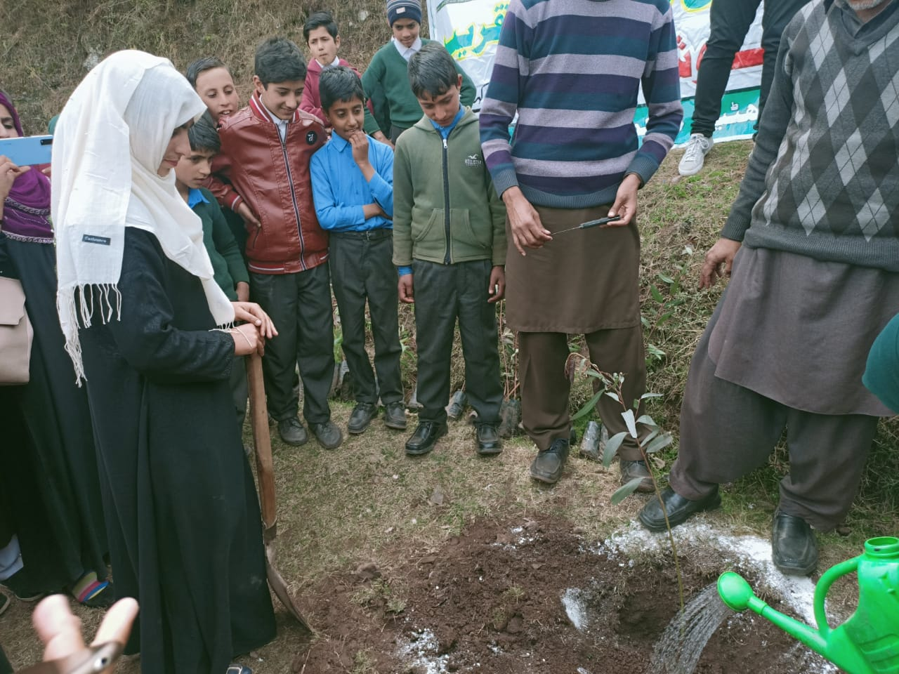 Rossy Foundation Pakistan ( Asia), Mr. Arbarb Ansar On A Tree-Planting Campaign in Pakistan